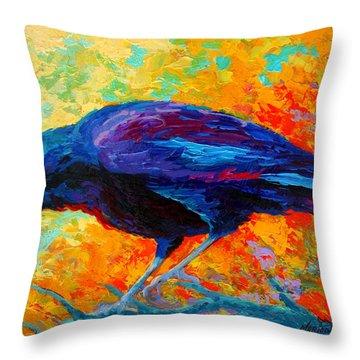 Crow IIi Throw Pillow