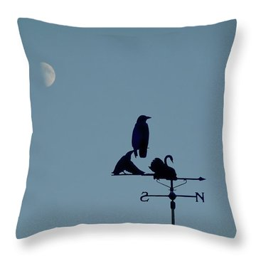 Throw Pillow featuring the photograph Crow On Weathervane by Valerie Anne Kelly