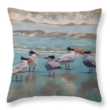 Crowd Control Throw Pillow by Pam Talley