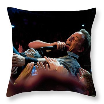 Crowd Surfing Throw Pillow