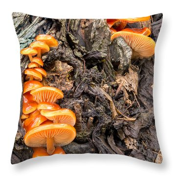 Crowded Living Throw Pillow