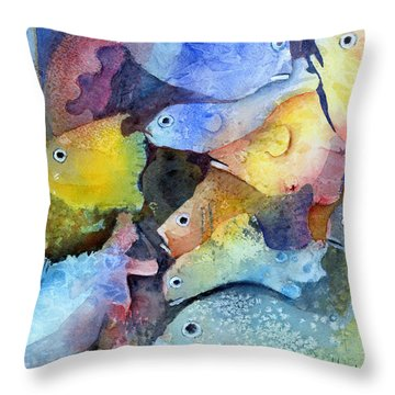 Crowded Space Throw Pillow by Arline Wagner