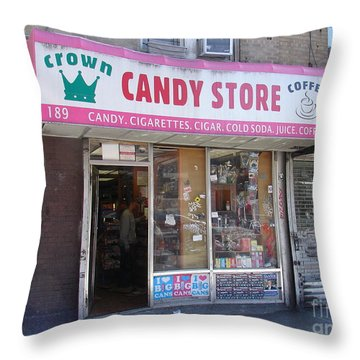 Throw Pillow featuring the photograph Crown Candy Store  by Cole Thompson