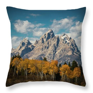 Crown For Tetons Throw Pillow by Edgars Erglis