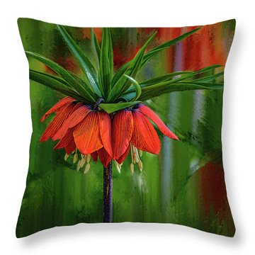 Crown-imperial Abstract #h5 Throw Pillow