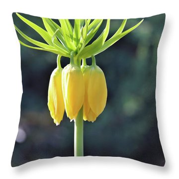 Crown Lily Throw Pillow