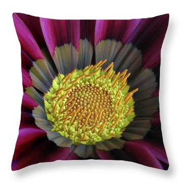 Throw Pillow featuring the photograph Crown Of Pollen by David and Carol Kelly