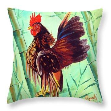 Crown Of The Serama Chicken Throw Pillow