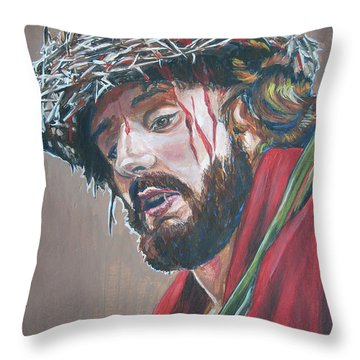 Crown Of Thorns Throw Pillow by Bryan Bustard