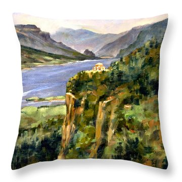 Crown Point Oregon Throw Pillow