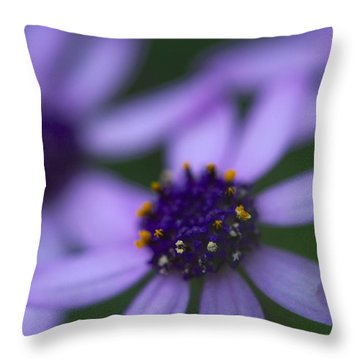 Crowned With Purple Throw Pillow