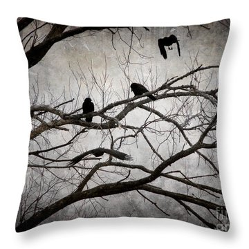 Crows At Midnight Throw Pillow