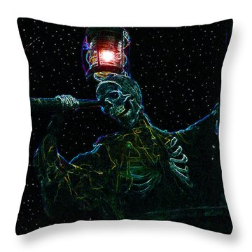 Crows Nest Throw Pillow by David Lee Thompson
