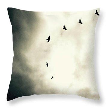 Crows On Christmas Eve 1 Throw Pillow