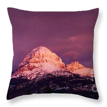 Crowsnest Sunrise Throw Pillow