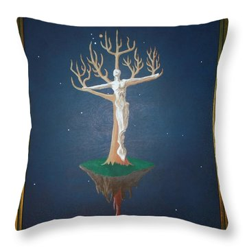 Crucifix Throw Pillow