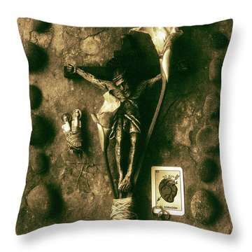 Crucifix, The Loss Throw Pillow