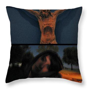 Crucifixion Throw Pillow by James W Johnson