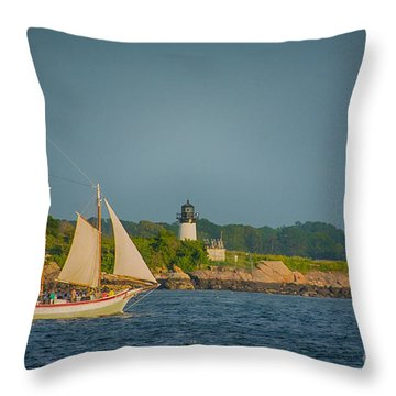 Cruise At Sunset Throw Pillow