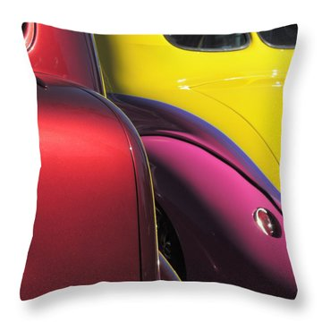 Cruise In Colors Throw Pillow