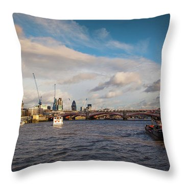 Cruise On The Thames Throw Pillow