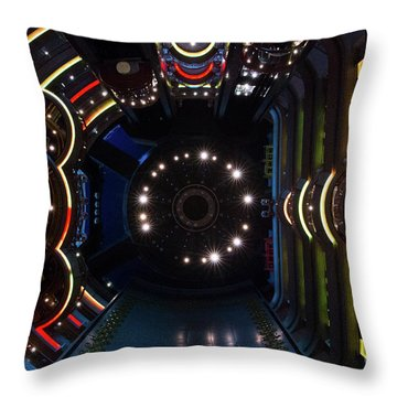 Cruise Ship Abstract Centrum Throw Pillow