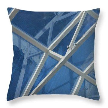 Cruise Ship Abstract Girders And Dome 2 Throw Pillow