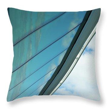 Cruise Ship Abstract Serenade Windows 1 Throw Pillow