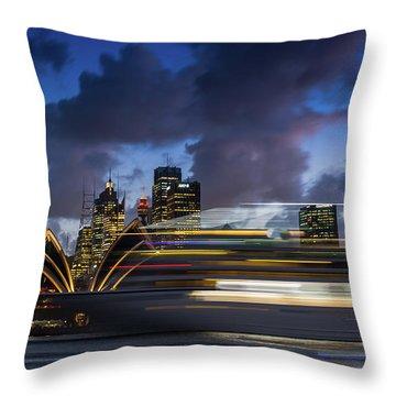 Cruise Ship Sydney Harbour Throw Pillow
