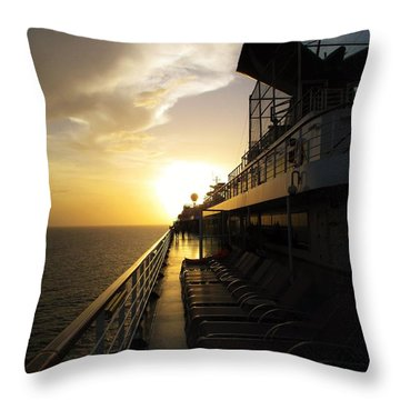 Cruisin' At Sunset Throw Pillow