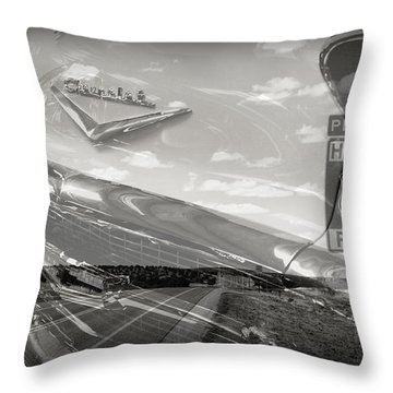Cruisin Route 66 Throw Pillow