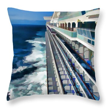 Throw Pillow featuring the photograph Cruising by Dennis Cox WorldViews
