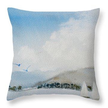 Cruising In Company Along The Tasmania Coast  Throw Pillow