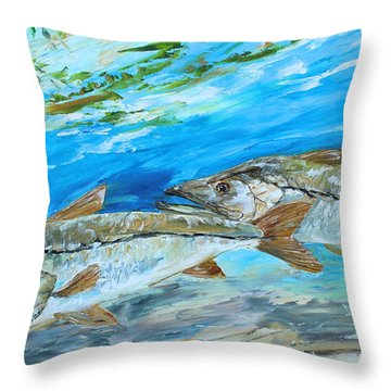 Cruising Snook Throw Pillow