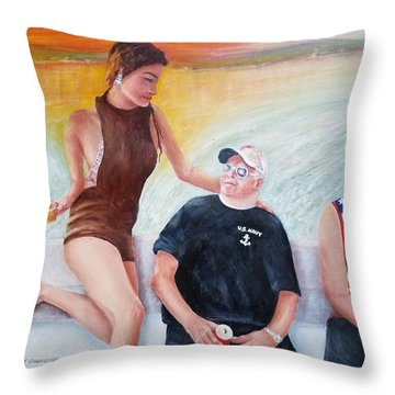 Cruising The 4th Of July Throw Pillow