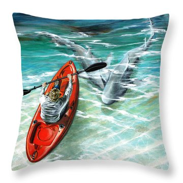 Cruising The Channel Throw Pillow