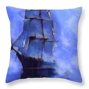 Cruising The Open Seas Throw Pillow