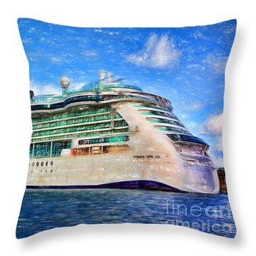 Cruising Thru Life Throw Pillow by Sue Melvin