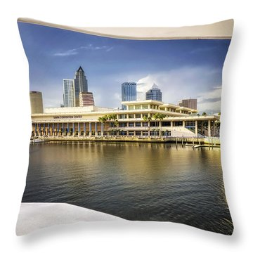 Cruising To Tampa In Hdr Throw Pillow by Michael White
