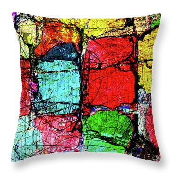 Crumbling Stone Wall Throw Pillow