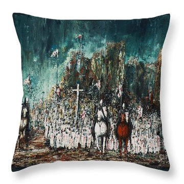 Marching Out Throw Pillow