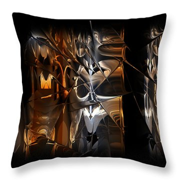Throw Pillow featuring the digital art Crusade by Vadim Epstein