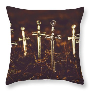 Crusaders Cemetery Throw Pillow