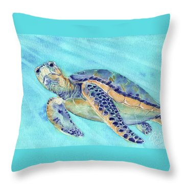 Throw Pillow featuring the painting Crush by Betsy Hackett