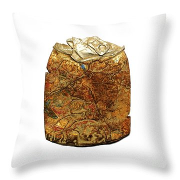 Crushed Beer Cans. Throw Pillow by Bernard Jaubert