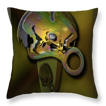 Throw Pillow featuring the digital art Crushing Affinity by Steve Sperry