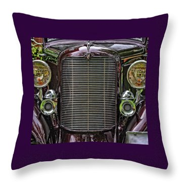 Crusin' With A 32 Desoto Throw Pillow