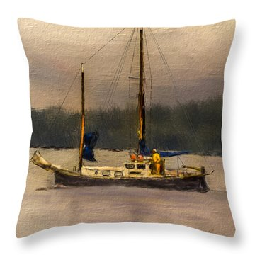 Crusing The Sound Throw Pillow by Dale Stillman