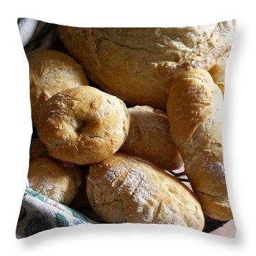 Crusty Artisan Breads Throw Pillow