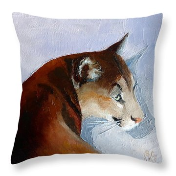 Cruz 2 Throw Pillow by Susan Woodward